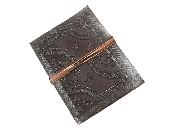 15x12 cm LEATHER JOURNALS  EMBOSSED 120 PAPER