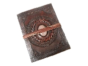 15X12 CM LEATHER JOURNALS EMBOSSED WITH STONE 120 PAPER