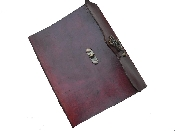 Handmade Leather Journal Diary Notebook Antiqued Clasp